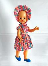 "Vintage Doll Custom Dressed in USA Galba Sleepy Eyes Stork Logo Italy 7"" Lot D-2"