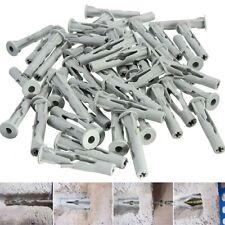 50x Nylon Plasterboard Dry Wall Plane Screw Cover Plug Door Frame Concrete M6x35