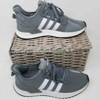 Adidas Originals Mens U Path Run Shoes Gray G27995 Lace Up Low Top Mesh 9 New