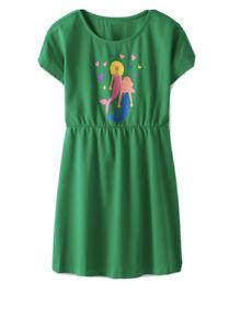NWT HANNA ANDERSSON RAINBOW MAKE BELIEVE ART Mermaid Green SS $36 NWT 140 10