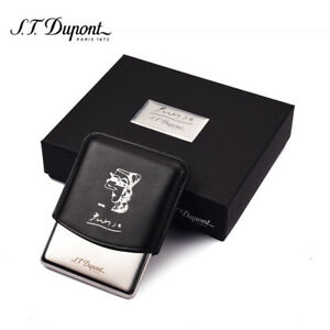 S.T. Dupont Picasso Black Leather Cigarette/Cigarillos Case (181046)
