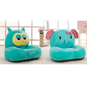 2Pcs Kid Foldable Sofa Chair Cartoon Lounger Bed Slipcover Cotton