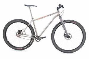 """USED Custom Lynskey Titanium Single Speed Mountain Bike Medium 27.5"""" / 29"""" Rigid"""