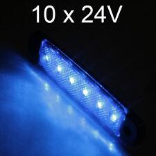 10 X 6 Led 24v Luces de Posición Laterales Azul para Camión DAF Man Volvo Scania