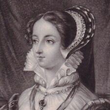 Portrait XIXe Marguerite de Valois Reine Margot Reine de Navarre Bouchardy