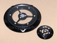 Motorcycle Black RSD 5 Hole Clarity Derby Cover For Harley Touring Softail DYNA