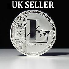 1 Silver Plated 25 LTC Litecoin Vires in Numeris Medallion Coin UK SELLER