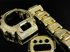G Shock Gshock Yellow Canary Simulated Diamond Watch Accessory Bezel Band 6900