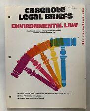 Casenot Legal Briefs Environmental Law 1982 Softback PreownedBookCom