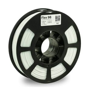 Kodak 2.85mm TPU Flex 98 Filament (750g, White) White Impact Abrasive Resistance