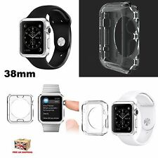 Silicone Transparent Gel Protection Crystal Case for Apple Watch iWatch 38MM UK