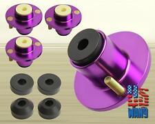 x4 Purple Aluminum Coilover Strut Shock Mount Extended Top Hat - Civic Eg ej Ek