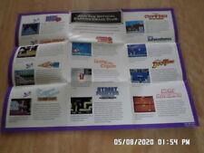 Nintendo NES (1990) Capcom Promo Poster / Insert