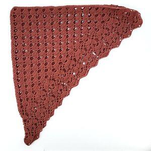 SCIALLE Sciarpa triangolare FATTO A MANO uncinetto - Rosa Antico