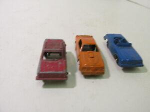 Tootsietoy Red Orange Blue Rabbit Pontiac Benz Small Diecast Car Set Of 3 mb1519
