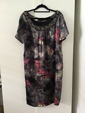 Silk Shift Dress By Citi Size 14