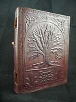 TREE of LIFE A5 Pagan Wicca Handmade Leather Journal Book of Shadows - 7 Colours
