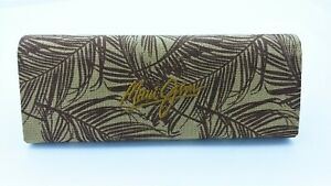 Maui Jim SUNGLASSES Case only hard tan