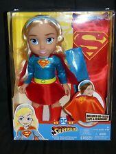 "Jakks Pacific Warner Bros DC Supergirl 15"" W/ Cape & Headband For Kids NEWINBOX"