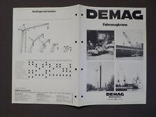 LKW - Prospekt, DEMAG Fahrzeugkrane, DEMAG Baumaschinen Düsseldorf 1978