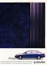 1991 Acura Integra gas pedal Original 2-page Advertisement Print Art Car Ad J802