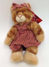 """Kittra Russ Stuffed kitten Cat Plush Heartcraft orange tabby 100430 Valentine 7"""""""