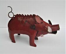 """New listing Yard Art Metal Razorback Pig Sculpture Figure 11"""" Animal Figure Arkansas"""