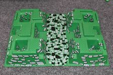LEGO Baseplate 32x48 Raised green gray stone 6091 6098 10176 Castle 30271 AFJT