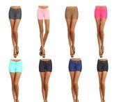 Jegging Shorts with Rhinestones Womens Sizes Small Medium Large Sexy