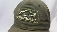 Chevrolet Snapback Trucker Mash Baseball Hat Adjustable Chevy Distressed Green