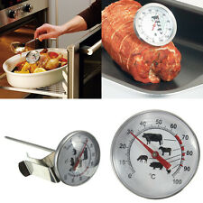 Pro Stainless Steel BBQ Meat Deli Food Kitchen Cook Read Probe Thermometer Gauge