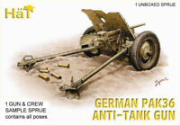 HaT 8149 German PAK 36 Anti-Tank Gun 1/72 Model Kit - 1 SPRUE 1 Gun & 4 Crew