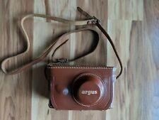 Argus Vintage Leather Camera Case Top Grain Cowhide Velvet Blue Inner Case Only