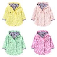 Toddler Kids Baby Girls Boys Autumn Print Jacket Zipper Hooded Windproof Coat