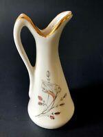 Old Gerold Porzellan German Miniature Porcelain Pitcher, Mark Crown N & Horse