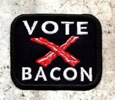 Vote Bacon patch bacon crest Iron to Sew on Patch Badge