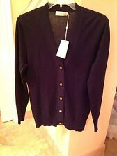 Tory Burch Cotton Simone Cardigan in Tory Navy, NWT, Med. orig$225 authentic