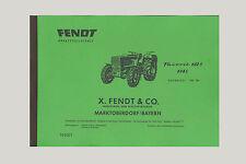 FENDT Favorit 612 S  Schlepper Traktor Ersatzteilliste