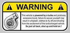 TURBO FUNNY WARNING DANGER BOOST JDM AUTOCOLLANT STICKER 12cmX5,5cm  (WA017)