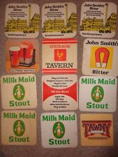 Beer drinks mats drip mats coaster JOHN SMITH TADCASTER  BEER Yorkshire