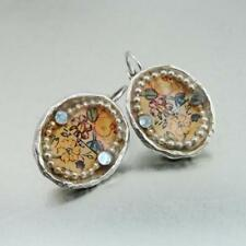 Hadar Designers NEW Handmade High Fashion Silver Pl Colored Earrings (as)