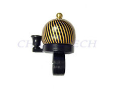 New MTB BMX City Kids Bicycle Bike Aluminum Mini Bell Black/Gold Stripes
