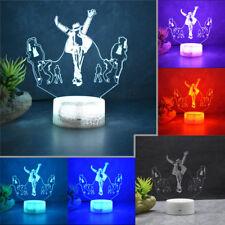 Michael Jackson Remote 3D Acrylic LED 16 Color Home Decor Night light Table Lamp