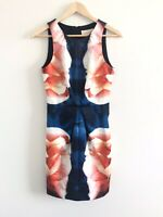 *BNWT*Keepsake The Label Dress Size 8/Sml Chained Navy Floral Print Pencil Dress