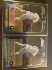 2003 Bowman Chrome Shane Victorino San Diego Padres #319 2 card lot