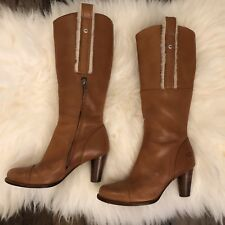 Ugg Austrailia Tess Cognac Leather Boots With Zipper $275 Size 7 Similar To Frye