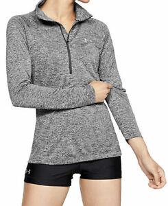New Under Armour Women's Tech Twist 1/2 Zip Long Sleeve Athletic Shirt Top Large
