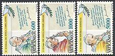 1993 VATICANO I VIAGGI DEL PAPA GIOVANNI PAOLO II NEL MONDO MNH ** - ED