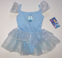 Nwt New Capezio Disney Princess Leotard Dress Tutu Cinderella Blue Cute Girl