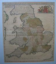 Inghilterra e Galles: antica mappa da Frederick DE Wit, C1680